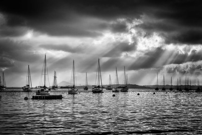 Yachts under the strom