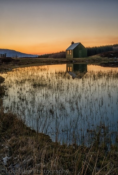 Fishing hut , Highland Perthshire,,