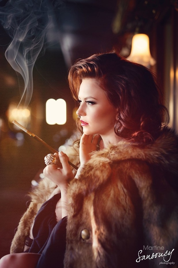 Put on some lipstick, pour yourself a drink and pull yourself together - Elizabeth Taylor by martinesansoucy - Everything Smoke Photo Contest