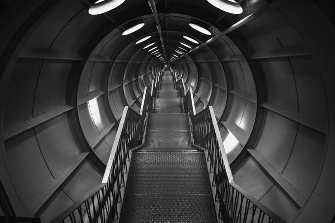 Into the void(B&W) by mihai_popescu - Black And White Architecture Photo Contest