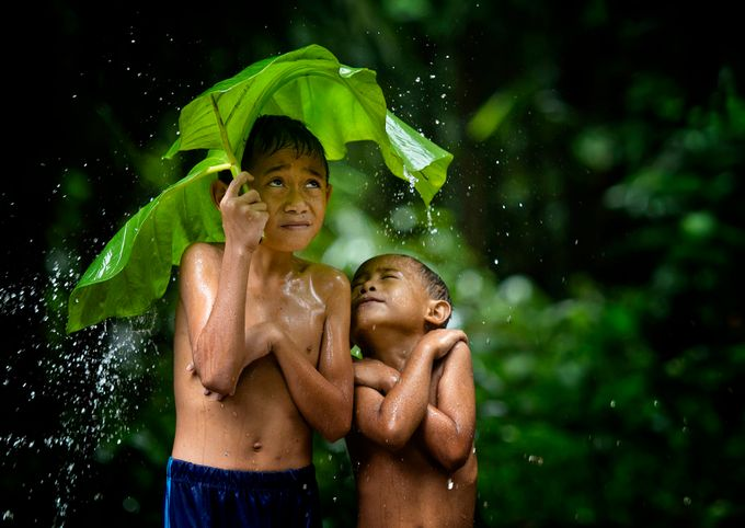 Take Shelter by pimpin_nagawan - Kids With Props Photo Contest