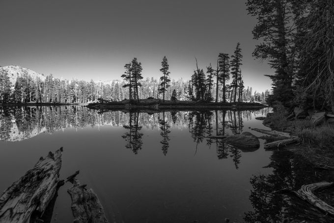 Mountain Lake II B&W by markcote - Islands Photo Contest