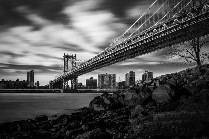 Manhattan Bridge - Long Exposure by germandnino - Black And White Architecture Photo Contest