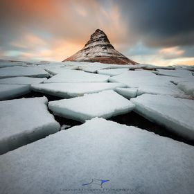 The Kirkjufell under a fantastic sunset!