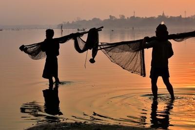 Fisherman in Amarapura, Mandalay.