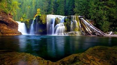 Lower Falls in Gifford Pinchot Forest (WA 2002)