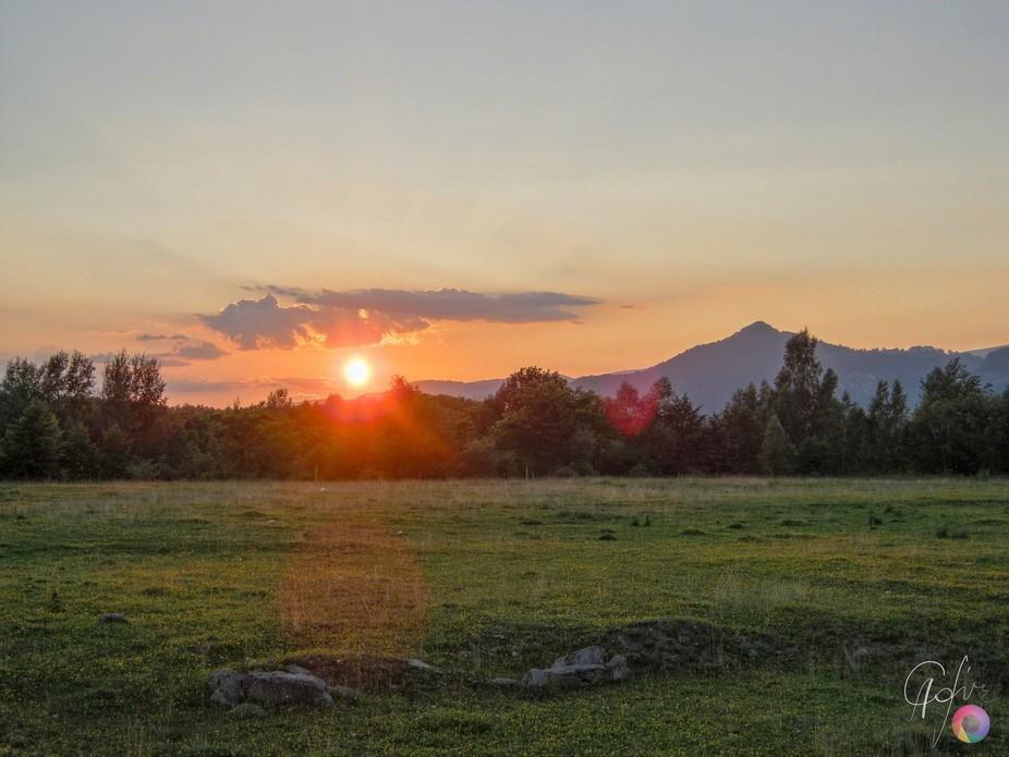 Sunset from Jieţ