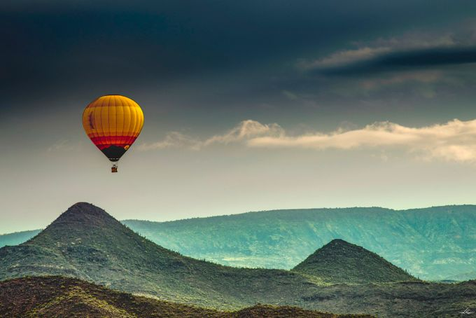 Balloon Over the Sonoran Desert by philipdrispin - Show Balloons Photo Contest