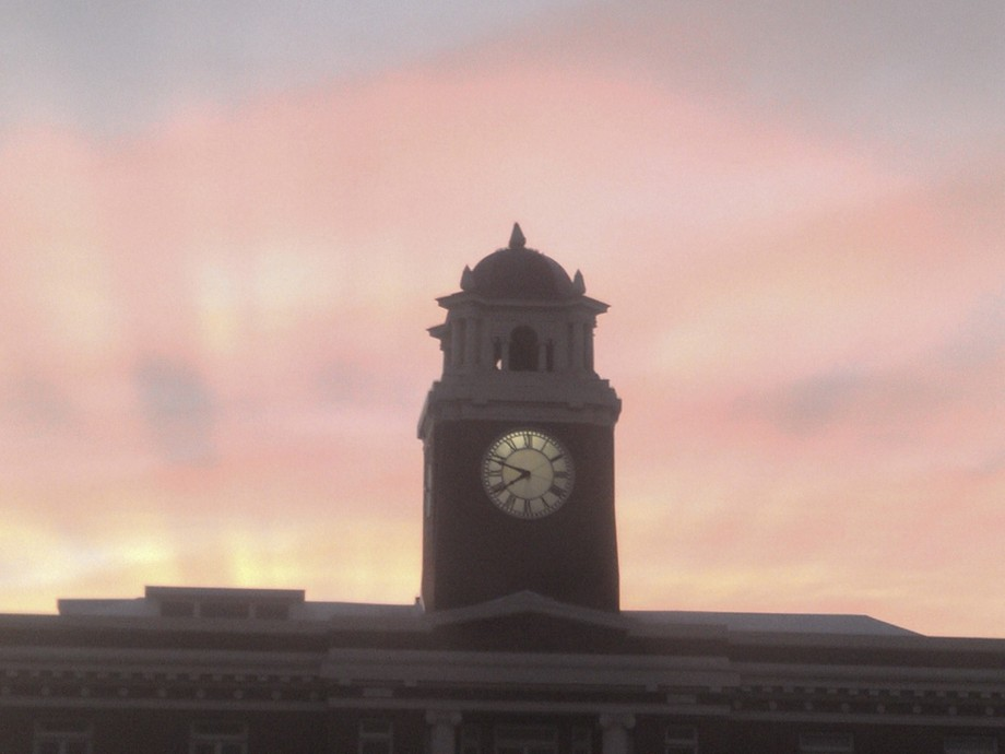 Courthouse at Sunrise in Port Angeles, WA
