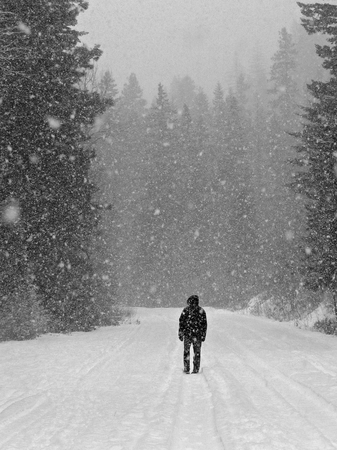 Walking Into the White by magdalenawos - People In Large Areas Photo Contest