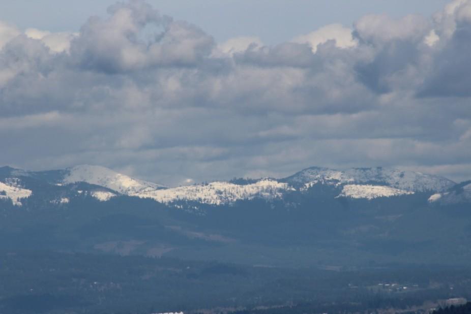 Snow on the Cascades
