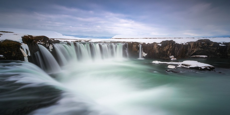 Godafoss is one of the most epic waterfalls of Iceland.  My friend and I were sleeping in the ren...