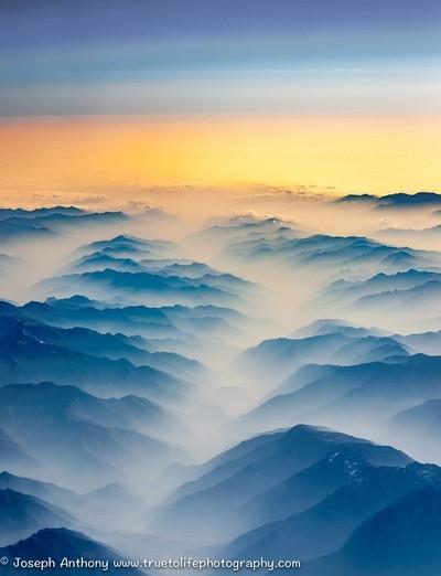 "A ""Mist-ery"" mountain scene"