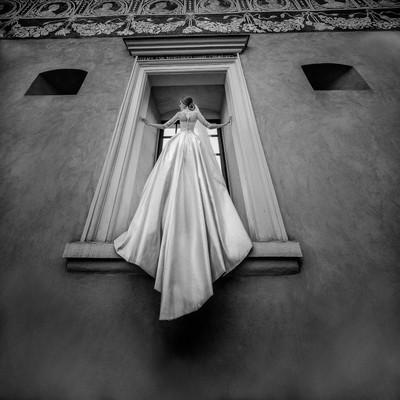 Stunning bride's photo
