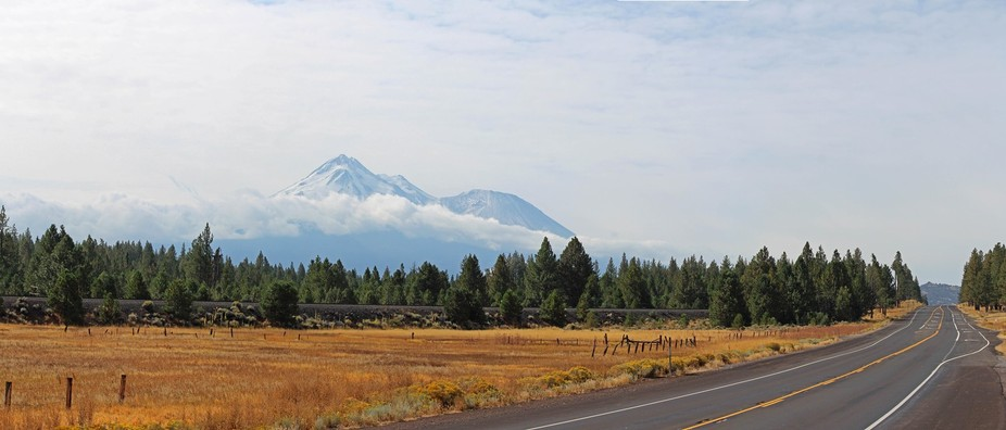 It's a long road to California's largest mountain Mount Shasta!