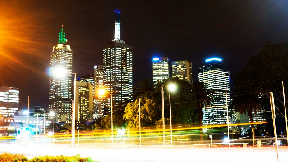 Looking at the Melbourne CBD from Hamer Hall