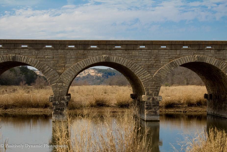 Possum Kingdom Masonry Arch Bridge Landscape