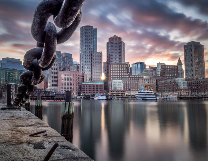 Boston sunset by andreafanelli - A Low Vantage Point Photo Contest