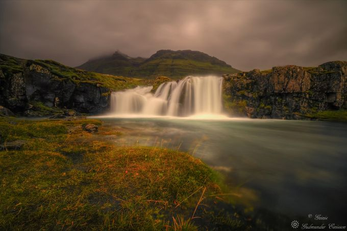 Icelandic waterfall by Geinis - The Magic Of Moving Water Photo Contest