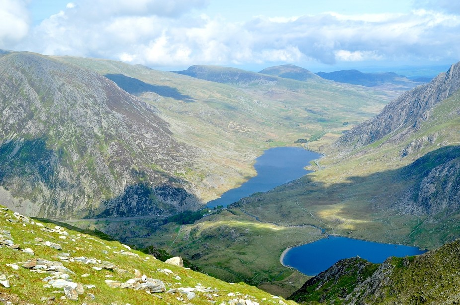 The blue lakes of Snowdonia