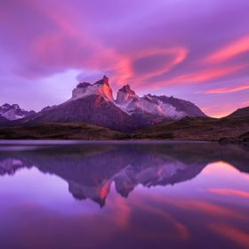 This is one of my favorite images from my second sunrise at Torres del Paine national park. During the first day i looked for some locations to s...
