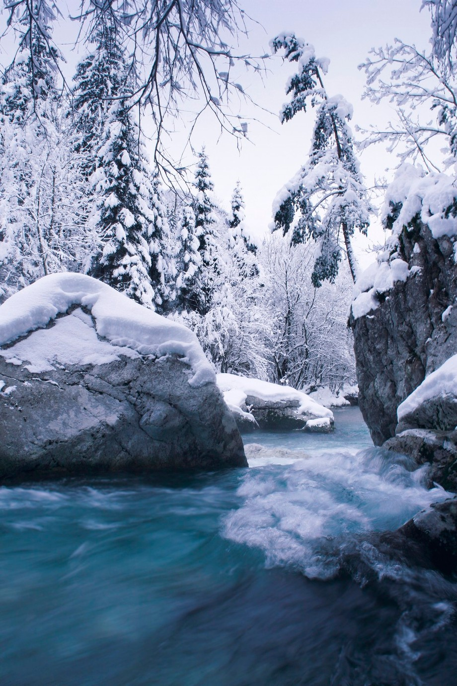 Blue winter water by Jan_Zajc - Winter Long Exposures Photo Contest