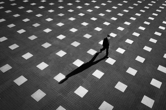 A Game of Light & Shadow by peterstew - City Life In Black And White Photo Contest