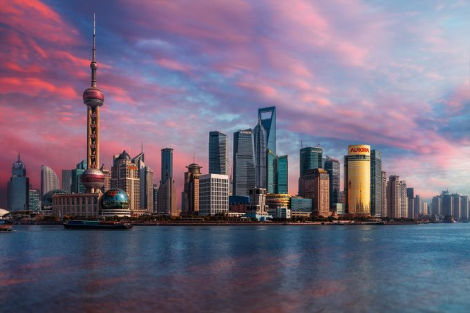 Shanghai Skyline by peterstewartphotography - Cities By The Water Photo Contest