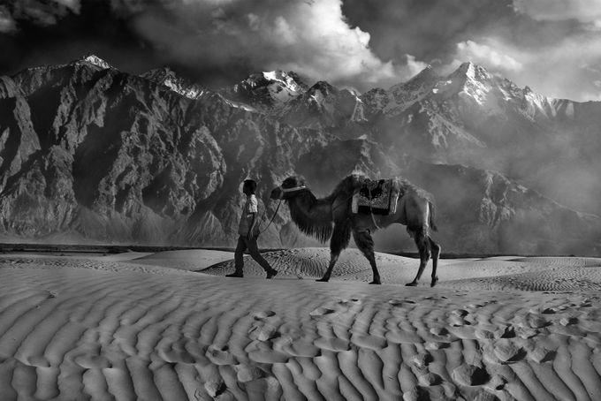 Valley of Nubra by Arnab_Ghosh - Black And White Mountain Peaks Photo Contest