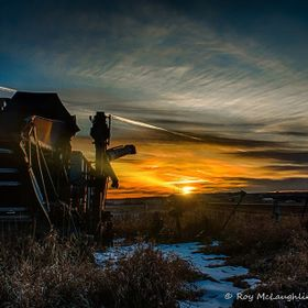 Taken in April of 2016 while on a local road trip to a place called Hairy Hill in Alberta, Canada. It is an old piece of farm equipment that has ...