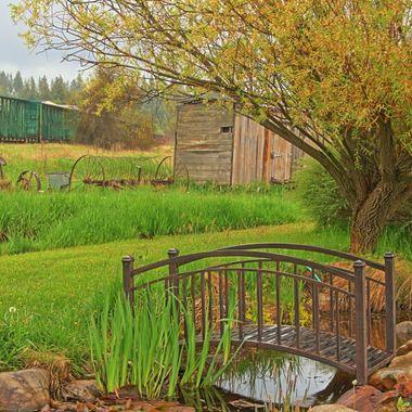 A little bridge over a drainage creek in north Idaho.