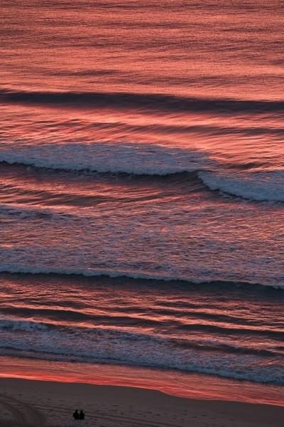 Beach Couple at Sunrise