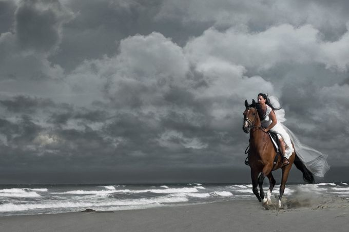 Beach Bride by Dolceweddingphotography - Here Comes The Bride Photo Contest