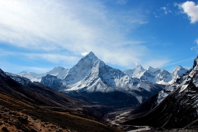 valley, himalayas, nepal