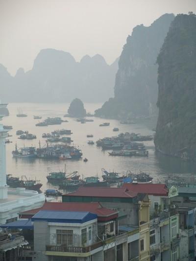 Halong Bay, misty morning