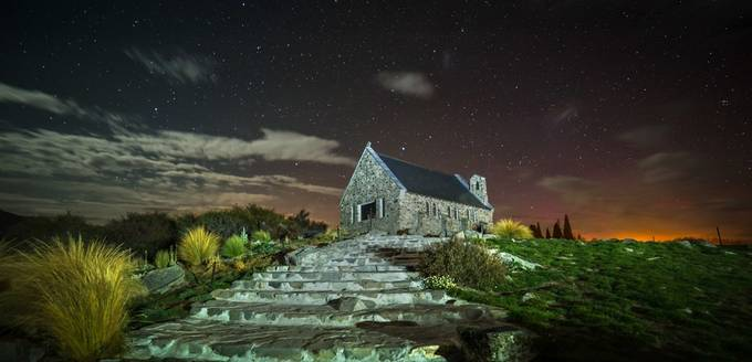 Church of the Good Shepherd at Night by johngregory - Faith Photo Contest with Scott Jarvie