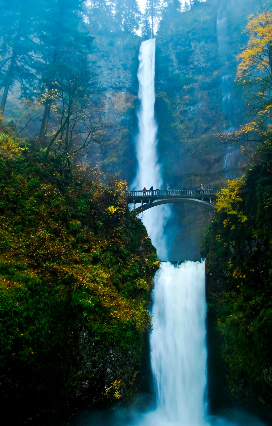 Multnomah Falls by sockeblu2 - People And Waterfalls Photo Contest