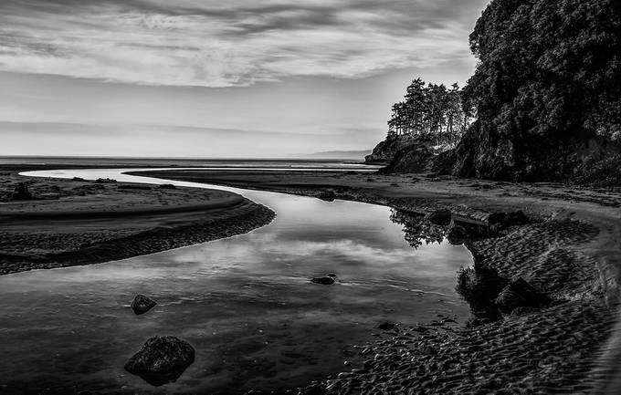 Black Water by bkmphoto9709 - Composing with Curves Photo Contest