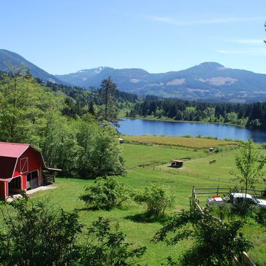 Passing A Farm that looks like paradise! - May 1st, 2016 in Port Alberni on way to Bainbridge Lake