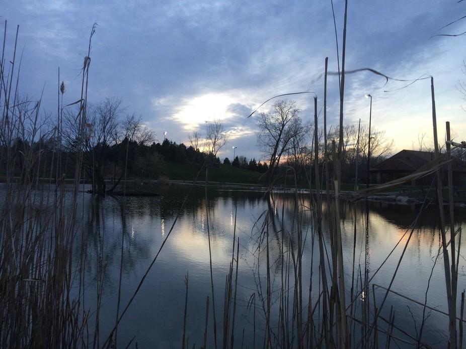 Malden Park pond in Windsor, ON, Canada