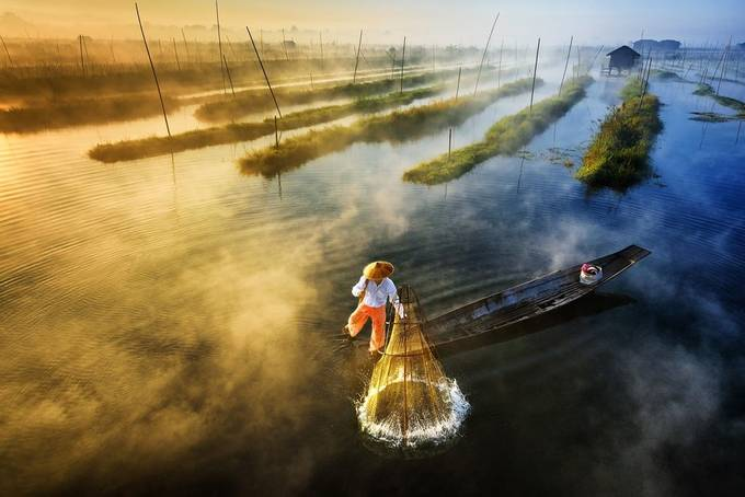 Sun's Up, Nets Out by zayyarlynn - Above Or Below Photo Contest