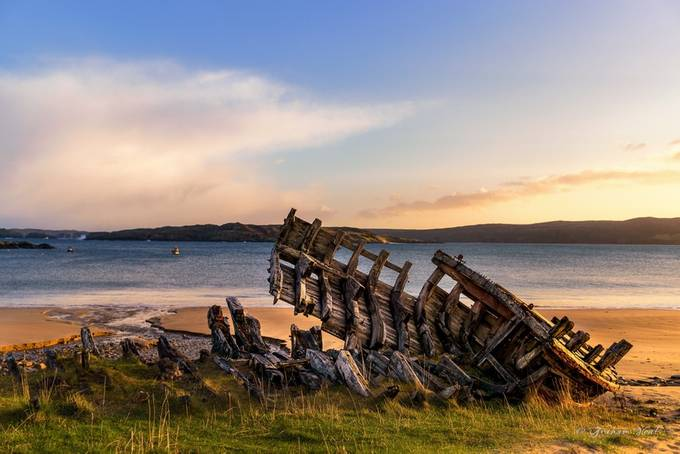 Sun-kissed wreck by grahamvphoto - Ships And Boats Photo Contest