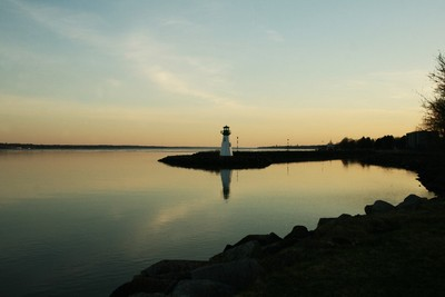 Lighthouse: evening, St Lawrence River