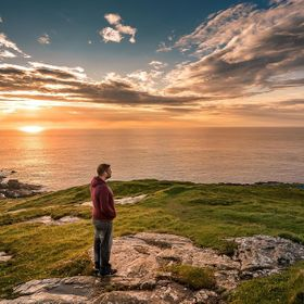 Staring out in to the atlantic from Ireland's most northerly point Malin Head