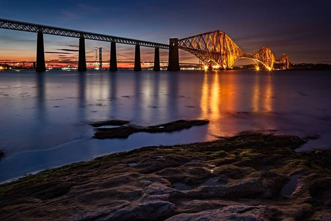 Forth Rail Bridge by PaulPersys - Night Wonders Photo Contest