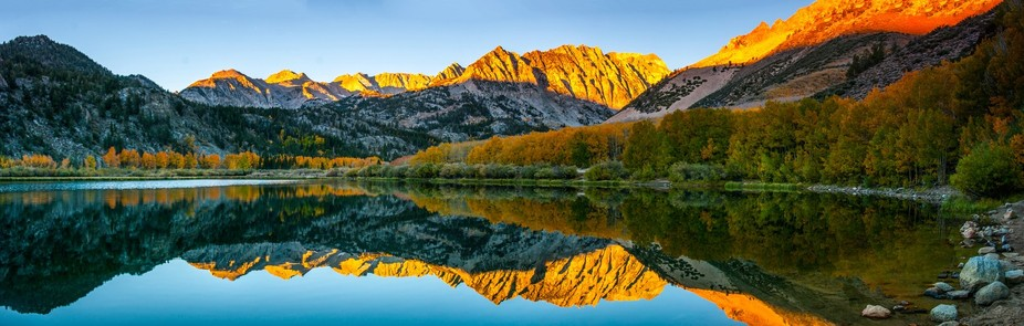7 photo stitch of North Lake near Bishop California.  Taken during fall colors 2014.