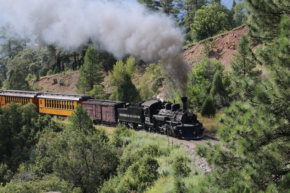 Locomotive from Durango to Silverton. August 30, 2015