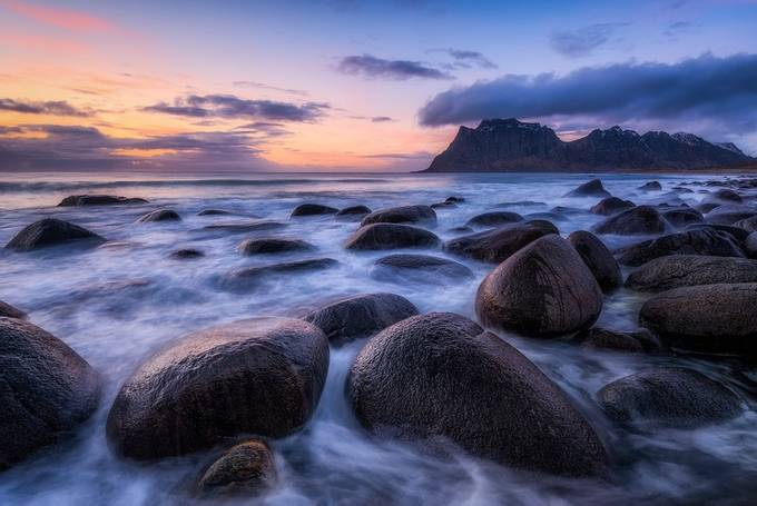 Arctic Coast Sunset by Daniel-Photography - Boulders And Rocks Photo Contest