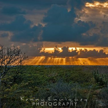Los Morrillos, Cabo Rojo, Puerto Rico, The clouds had covered up the sky and the sun so I decided to walk back to the car when I got up to the hill on the road back this was the view I found, It had changed in a matter of minutes!