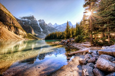 Evening Comes to Moraine Lake